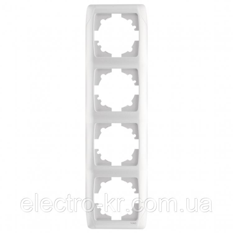 Четверная вертикальная рамка VIKO Carmen Белый