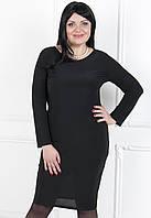 Платье-чехол из тонкого эластичного трикотажа больших размеров №184