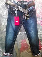 """Детские джинсы на мальчика """"Клетка"""" 134,140р."""