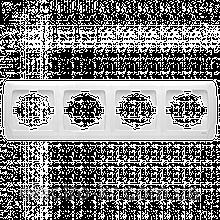 Четверная горизонтальная рамка VIKO Carmen Белый