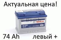 Аккумулятор Bosch S4 74 Ah 0092S40090 Пусковой ток 680 A, Левый +, Размеры на картинке