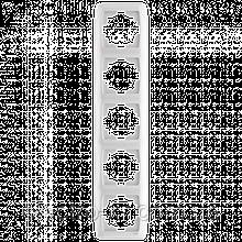 Пятерная вертикальная рамка VIKO Carmen Белый