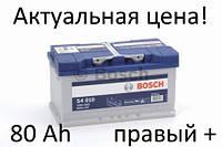 Аккумулятор Bosch S4 80 Ah 0092S40100 Пусковой ток 740 A, Правый +, Размеры на картинке