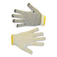 Перчатки вязанные с вкраплением ,белые, L