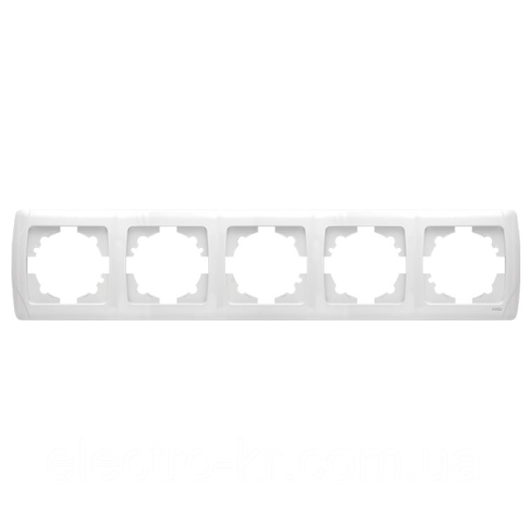 Пятерная горизонтальна рамка VIKO Carmen Білий