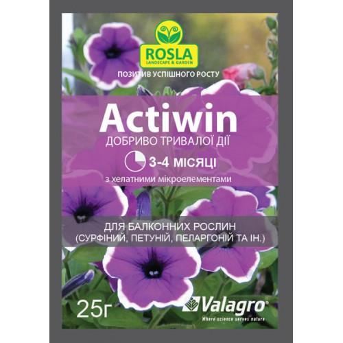 Комплексное минеральное удобрение Actiwin (Активин), 25 г — для балконных растений (NPK 12.5.20+ME, 3-4 мес.)