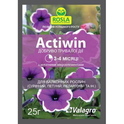 Комплексное минеральное удобрение Actiwin (Активин), 25 г — для балконных растений (NPK 12.5.20+ME, 3-4 мес.), фото 2