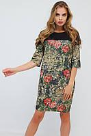 Винтажное дизайнерское платье (рр 42-50) свободного кроя