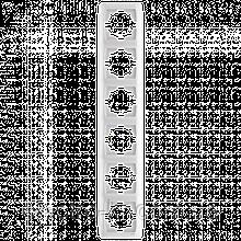 Шестерная вертикальная рамка VIKO Carmen Белый