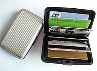 Гаманець Aluma Wallet, сріблястий / Кошелек Аллюма Уоллет, серебристый (бумажник, кардхолдер из алюминия)