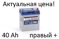Аккумулятор Bosch S4 40 Ah 0092S40180 Пусковой ток 330 A, Правый +, Размеры на картинке