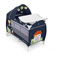 Манеж-кроватка CAM Daily Plus синий