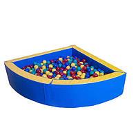 Сухой бассейн угловой (1,5х1,5) синий