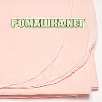 Однотонная фланелевая пелёнка 110х90 см (фланель, байковая, байка), ТМ Ромашка, Украина 2590 Коралловый