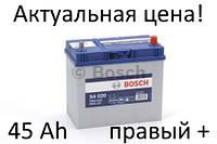 Аккумулятор Bosch S4 45 Ah 0092S40200 Пусковой ток 330 A, Правый +,(ТОНКИЕ КЛЕМЫ) Размеры на картинке