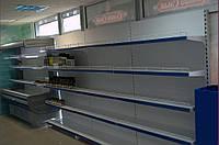 Стеллаж пристенный торговый с универсальными полками WIKO ВИКО для магазина. Торговое оборудование в наличии