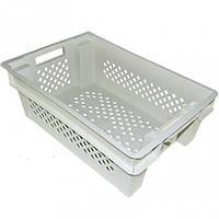 Ящик пластиковый перфорированный (пищевой)  600Х400Х200