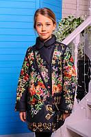 Пальто весеннее для девочки Долли  (черный)