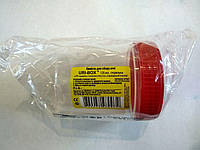 Баночка для мочи 120 мл стерильная, закручивающаяся крышка / URI-BOX