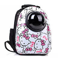 Рюкзак переноска для котов и собак мелких пород CosmoPet Hello Kitty