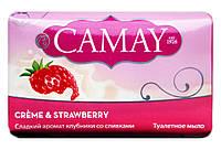 Туалетное мыло Camay Crème & Strawberry Сладкий аромат клубники со сливками - 85 г.