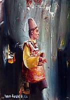 """Авторская репродукция """"Клоун"""" от художника Вадима Кучера-Куцана"""