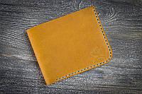 Желтый кожаный бумажник с персонализацией