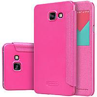 Чехол книжка Nillkin Sparkle для Samsung Galaxy A7 A710f 2016 розовый