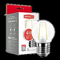 LED лампа MAXUS Filament G45 4W 3000K 220V E27 (1-LED-545-01)