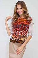 Легкая блуза (рр 42-50) модной расцветки