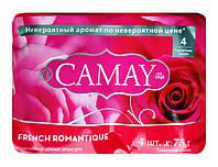 Туалетное мыло Camay French Romantique Утонченный аромат роз 4 х 75 г - 300 г.