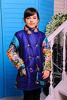 Пальто весеннее для девочки Долли  (джинс)