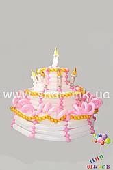 Триярусний торт з повітряних кульок