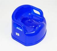 Горшок-стульчик детский с крышкой синий