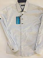 Рубашка на кнопке для мальчиков 10-15 лет
