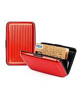 Гаманець Aluma Wallet, червоний / Кошелек Аллюма Уоллет, красный (бумажник, кардхолдер из алюминия), фото 1