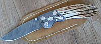 """Авторский складной нож из дамаской стали """"Silver Leaf"""""""