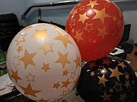 Печать на воздушных шарах искристой краской(металлик)