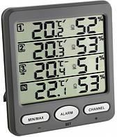 "Термогигрометр цифровой TFA 30305410 ""Klima-Monitor"", 3 внешних радиодатчика"