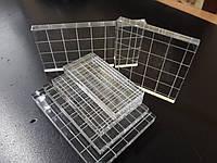 Акриловый блок для штампов  с насечкой