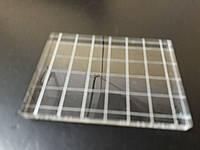 Акриловый блок для штампов  с насечкой, фото 1