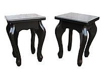 Табуреты из дерева для кухни с кривыми ногами (цвет венге)