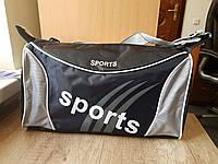 Компактная спортивная сумка. Серо-черная