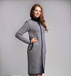 Очень модный теплый женский кардиган-пальто