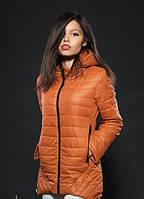 Демисезонная женская куртка карамельного цвета