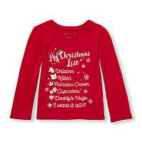 Реглан девочке новогодний детский реглан хлопок размер 2 года Childrens Place