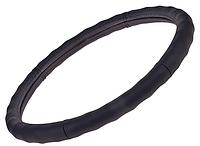 Чехол для руля    2056   M черного цвета, кожа