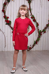Красивое детское трикотажное платье с бантиком
