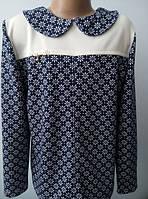 Нарядная детская трикотажная кофточка-блуза