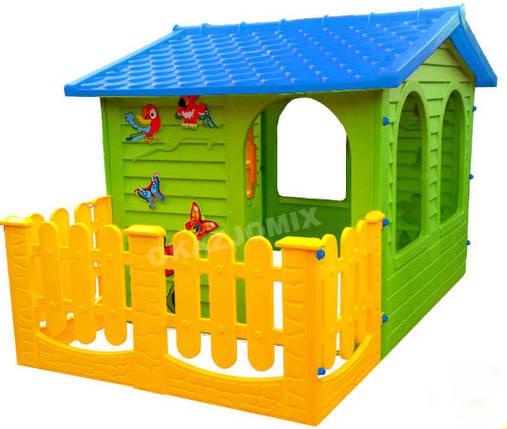 Детский игровой домик Garden House с террасой, голубой, фото 2